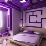 Интересни лабиринти от гипс-картон с вградено осветление. Подбирайте внимателно цветовете и да не са повече от два, за да не натоварите стаята си за почивка.