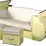 Диван и столове от Кадилак 1959 г Повечето дивани